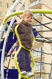 Toddler on climbing frame Stock Photography