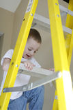 Toddler Climbing Ladder Royalty Free Stock Photo