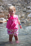 Toddler in the Creek Stock Photography