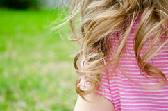 Toddler Curls Stock Photo