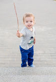 Toddler cute boy on walk Stock Image