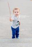 Toddler cute boy on walk Stock Image