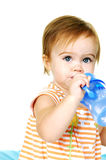 Toddler Drinking Water Stock Photography