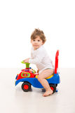 Toddler drive a car toy Stock Photos