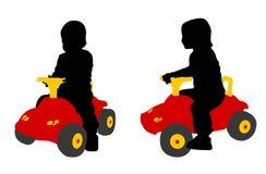 Toddler driving car toy Stock Photos
