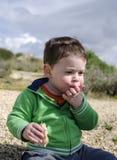Toddler eating Stock Image