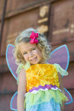 Toddler in Fairy Halloween Costume Stock Image