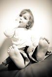 Toddler Feet Closeup Stock Photo