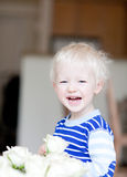 Toddler with flower Stock Photos