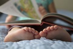 Toddler Foot closeup. Royalty Free Stock Images