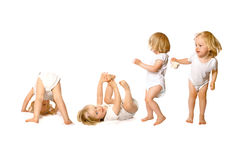 Toddler in fun activity Royalty Free Stock Photos