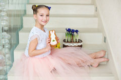 Free Toddler Funny Ballerina Girl At Home Ready To Celebrate Spring A Stock Photo - 67189780