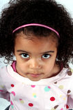Toddler Girl. Close up of a young toddler girl with brown eyes Stock Image