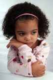 Toddler Girl. Close up of a young toddle girls brown eyes Royalty Free Stock Photography