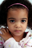 Toddler Girl. Close up of a young toddle girls brown eyes Royalty Free Stock Photos