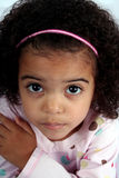 Toddler Girl. Close up of a young toddle girls brown eyes Royalty Free Stock Photo