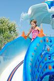 Toddler girl in aqua park Stock Photography