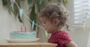 Toddler girl celebrating birthday during COVID-19 lockdown.