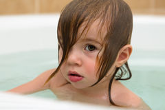 Toddler Girl giving Thoughtful Expression Stock Photography
