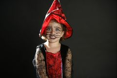 Toddler girl , halloween costume Royalty Free Stock Image