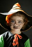 Toddler girl , halloween costume Stock Photos