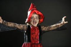Toddler girl , halloween costume Royalty Free Stock Image