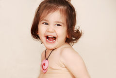 Toddler girl laughing Royalty Free Stock Photos