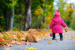 Toddler girl outdoors Royalty Free Stock Photo