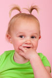 Toddler girl in pink Royalty Free Stock Image