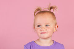Toddler girl in pink Royalty Free Stock Photography