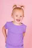 Toddler girl in pink Royalty Free Stock Photos