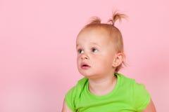 Toddler girl in pink Royalty Free Stock Image