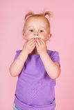 Toddler girl in pink Stock Photo