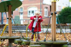Toddler girl at playground Stock Photography
