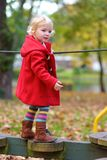 Toddler girl at playground Royalty Free Stock Photos