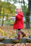 Toddler girl at playground Stock Image