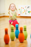 Toddler girl playing Stock Image