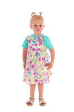 Toddler girl in summer dress Royalty Free Stock Photography