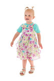 Toddler girl in summer dress Royalty Free Stock Photos