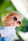 Toddler girl in sun glasses Stock Images