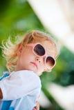 Toddler girl in sun glasses Stock Images