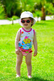 Toddler girl in sunglasses Royalty Free Stock Image