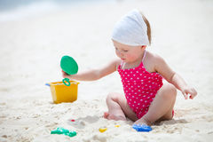 Toddler girl on vacation royalty free stock photos