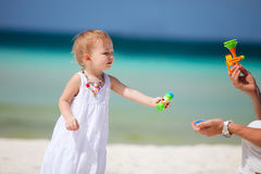 Toddler girl on vacation Royalty Free Stock Images