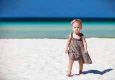 Toddler girl on vacation Stock Image