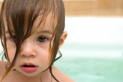 Toddler Girls Glazed Look Royalty Free Stock Photography