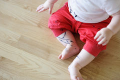 Toddler got his pants dirty Royalty Free Stock Image
