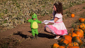 Toddler in Halloween Costume Stock Images