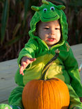Toddler in Halloween Costume Royalty Free Stock Image