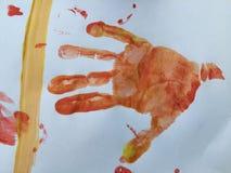 Toddler hand print Royalty Free Stock Photo